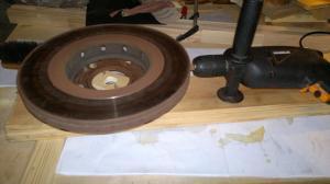 Шлифовальный круг из подручных материалов 2