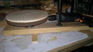 Шлифовальный круг из подручных материалов 3