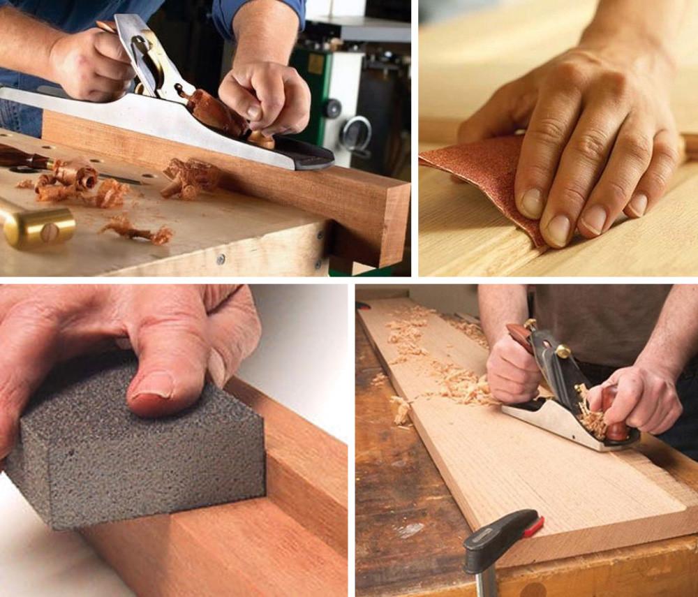 Ручная обработка поверхностей изделий из древесины