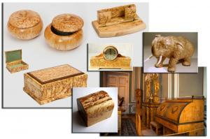 Породы древесины. Карельская берёза. Текстура.