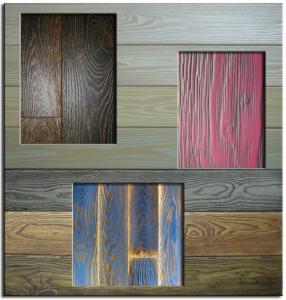 Применение искусственно состаренной древесины. Поверхности.