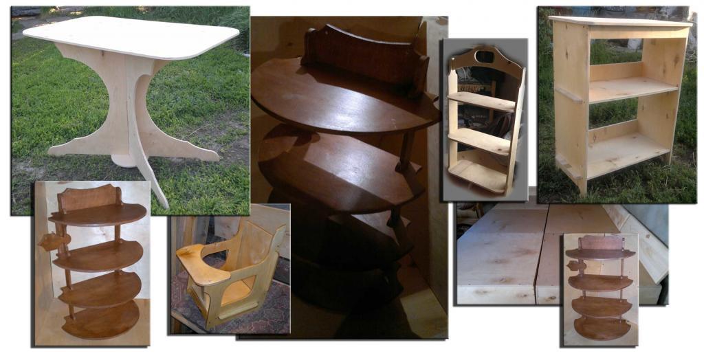Мебель для дачи из фанеры
