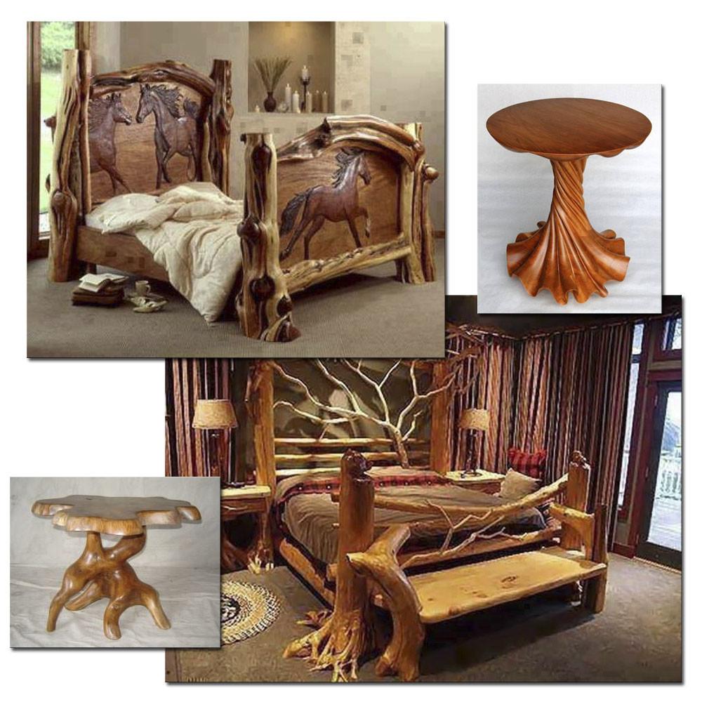 Дизайн мебели из стволов деревьев