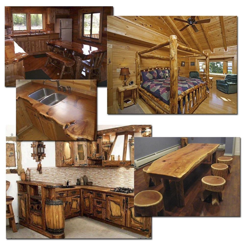 Мебель из стволов деревьев