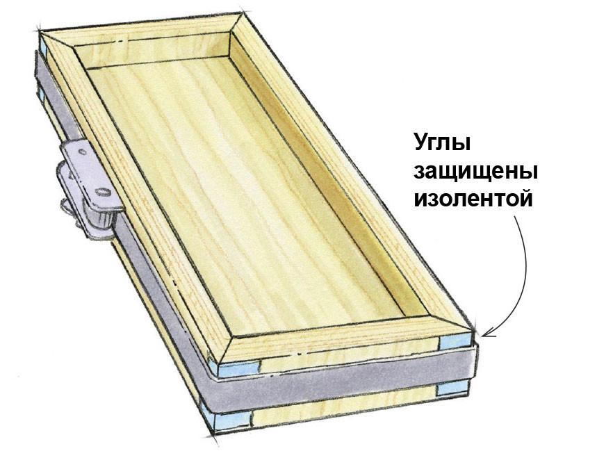 Склеивание ящика из фанеры