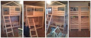 Детская двухэтажная кровать-домик