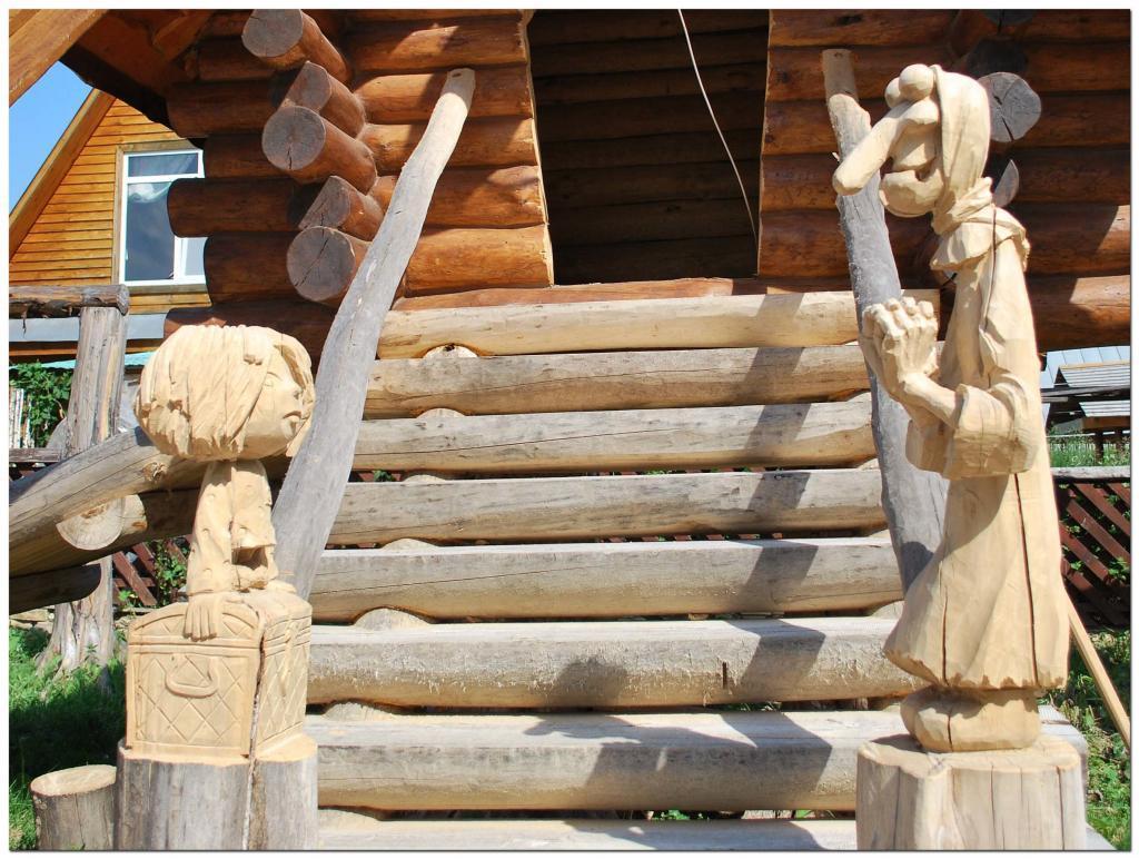Резьба по дереву. Уличные скульптуры (12)
