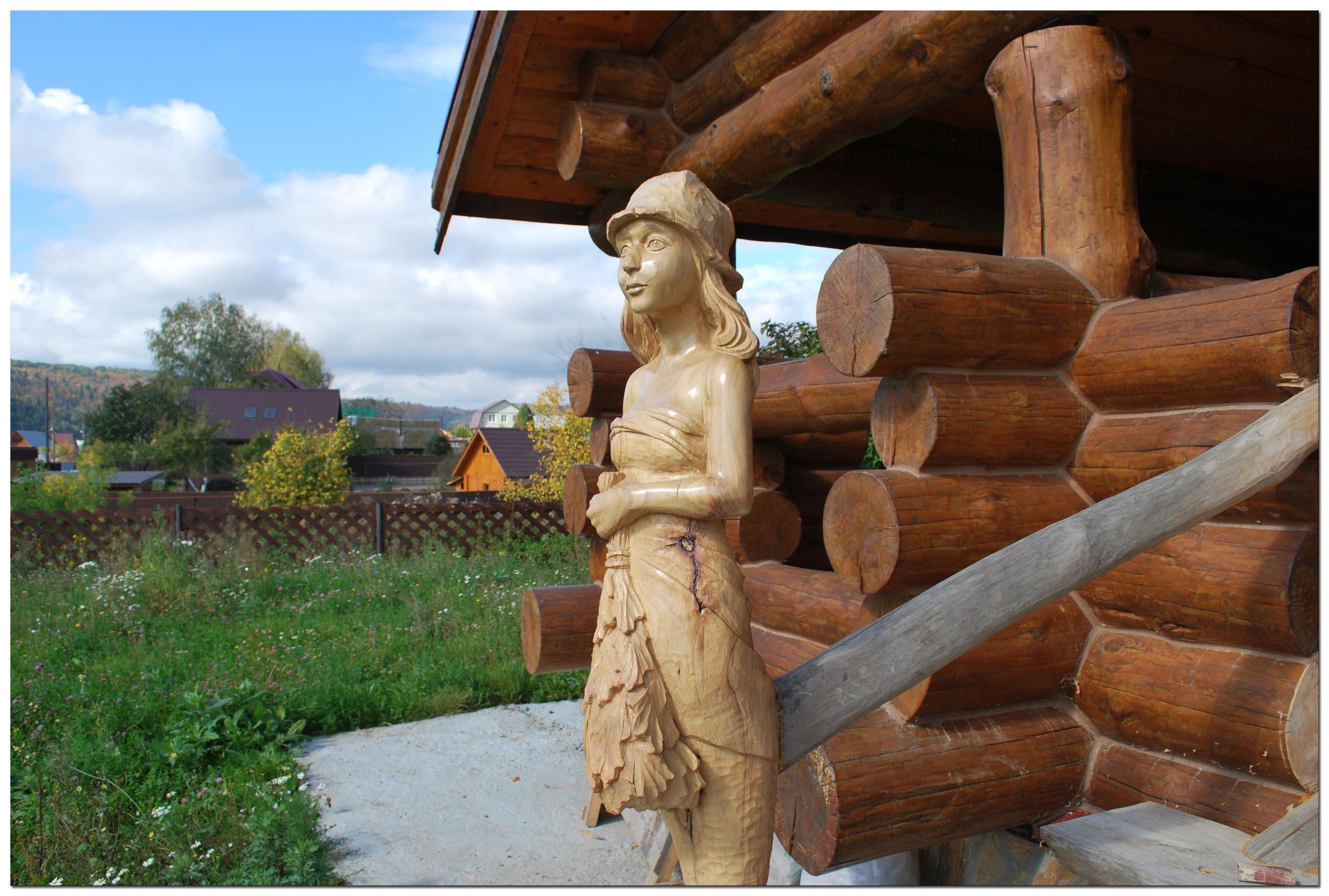 Резьба по дереву. Уличные скульптуры (2)