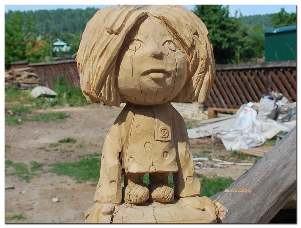 Резьба по дереву. Уличные скульптуры (4)