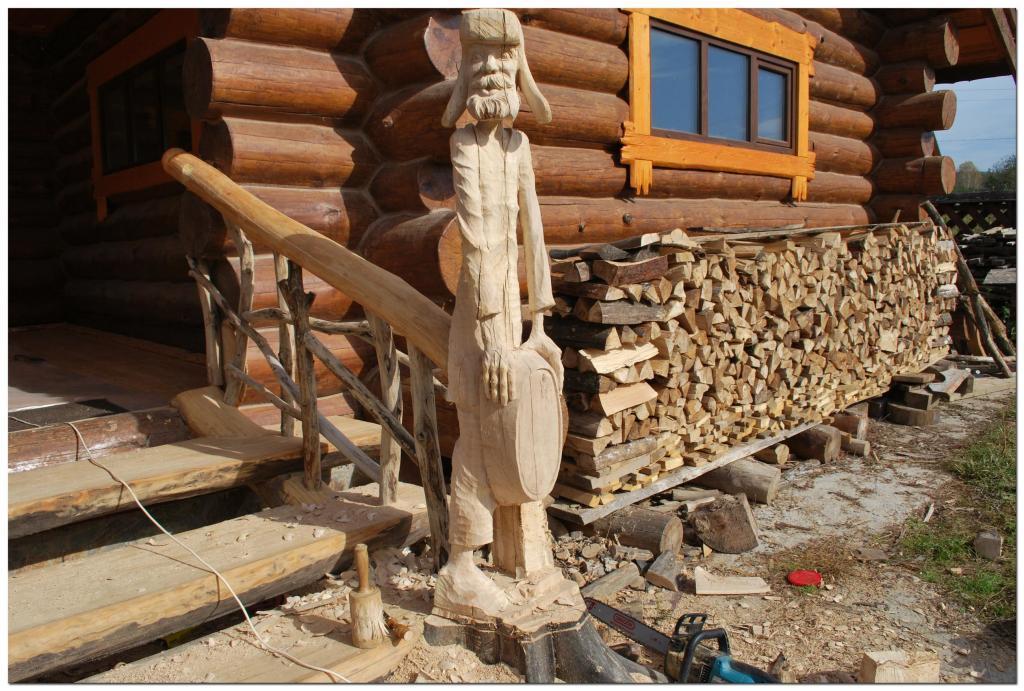 Резьба по дереву. Уличные скульптуры (5)