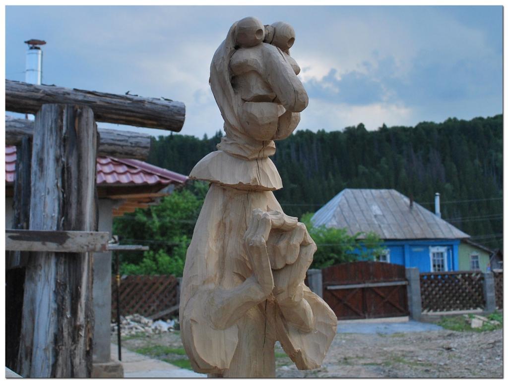 Резьба по дереву. Уличные скульптуры (7)