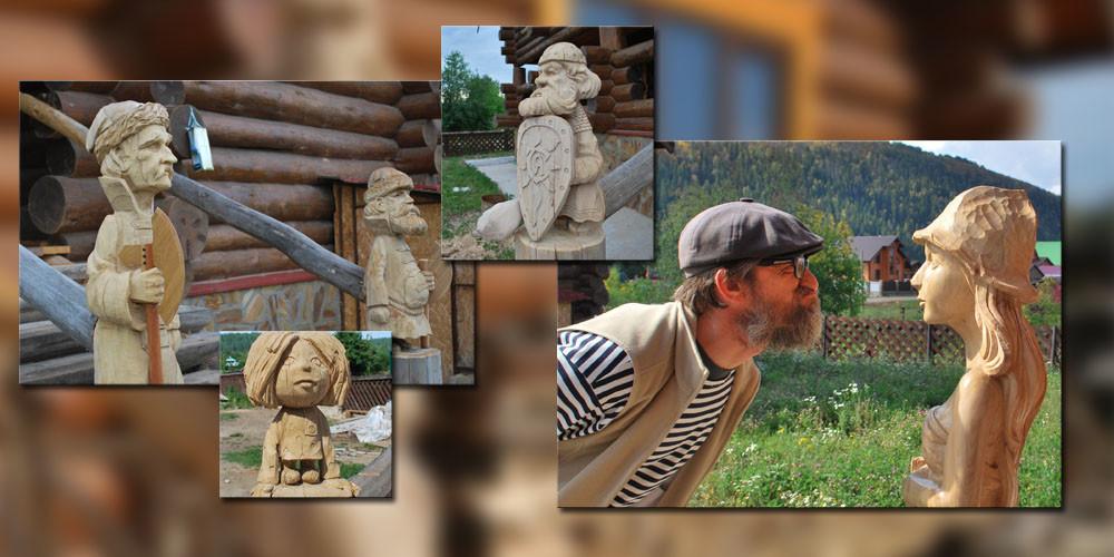 Резьба по дереву. Уличные скульптуры из дерева