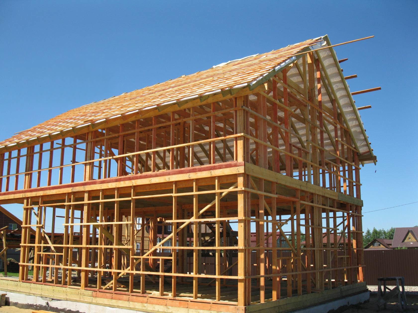 деревянный каркас дома для тех кто любит работать с деревом