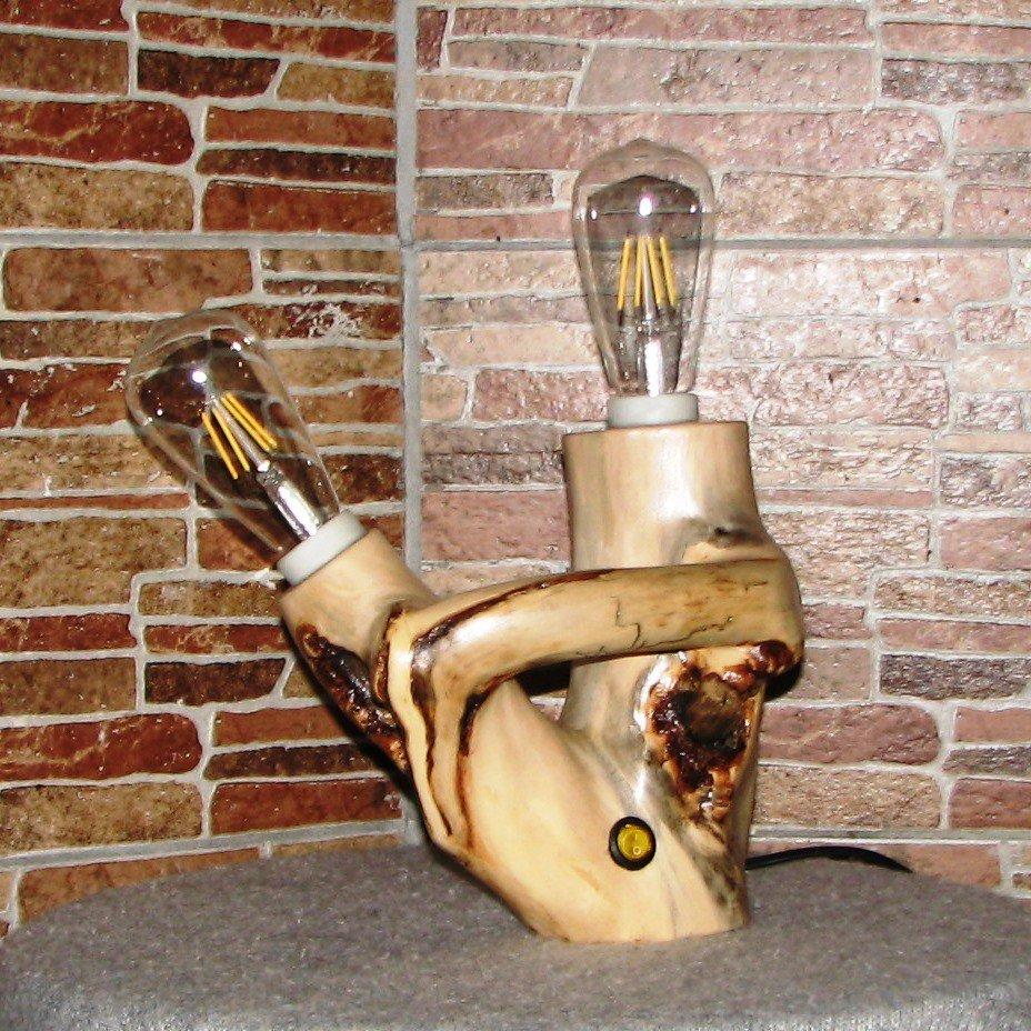 Настольный деревянный светильник Фото (3)
