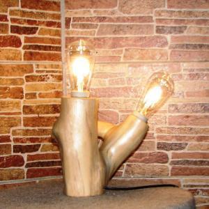 Настольный деревянный светильник Фото (4)