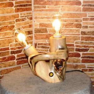 Настольный деревянный светильник Фото (5)
