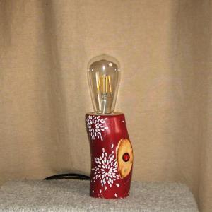 Настольный светильник из дерева Фото (4)