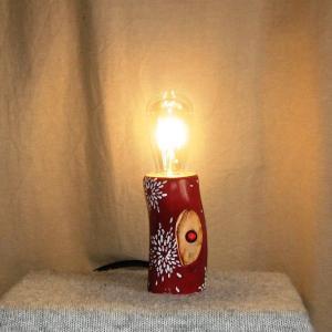 Настольный светильник из дерева Фото (5)