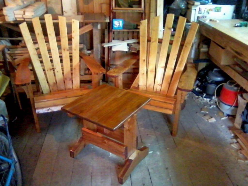 Садовая мебель из дерева Фото (1)