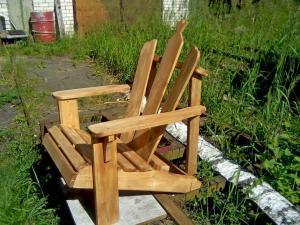 Садовая мебель из дерева Фото (4)