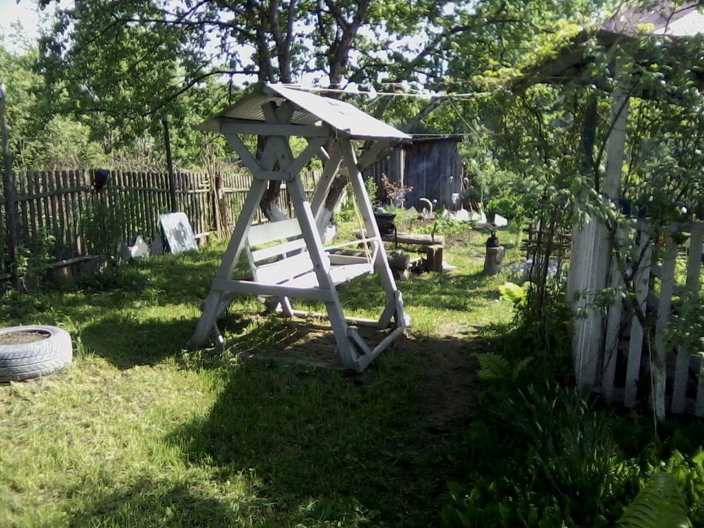 Садовые качели из дерева (1)