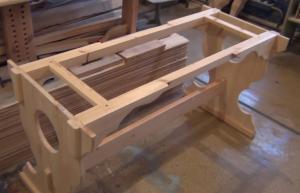 Подстолье из дерева для стола своими руками. Общий вид