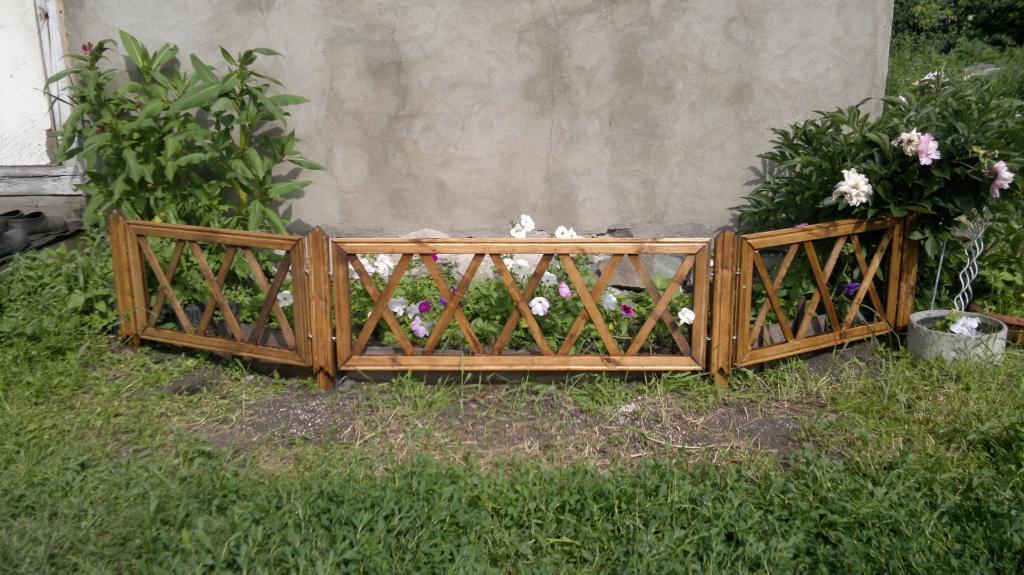 Забор для цветника Фото (1)