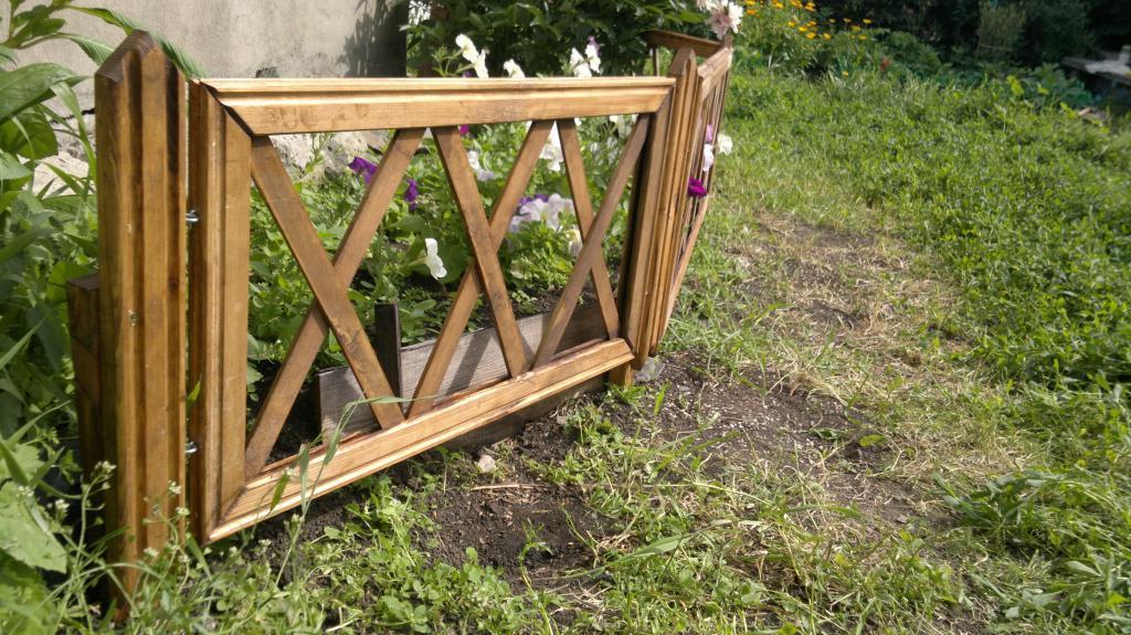 Забор для цветника Фото (2)