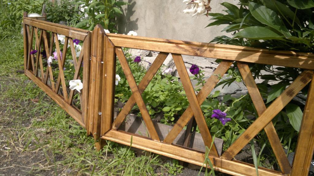Забор для цветника Фото (3)