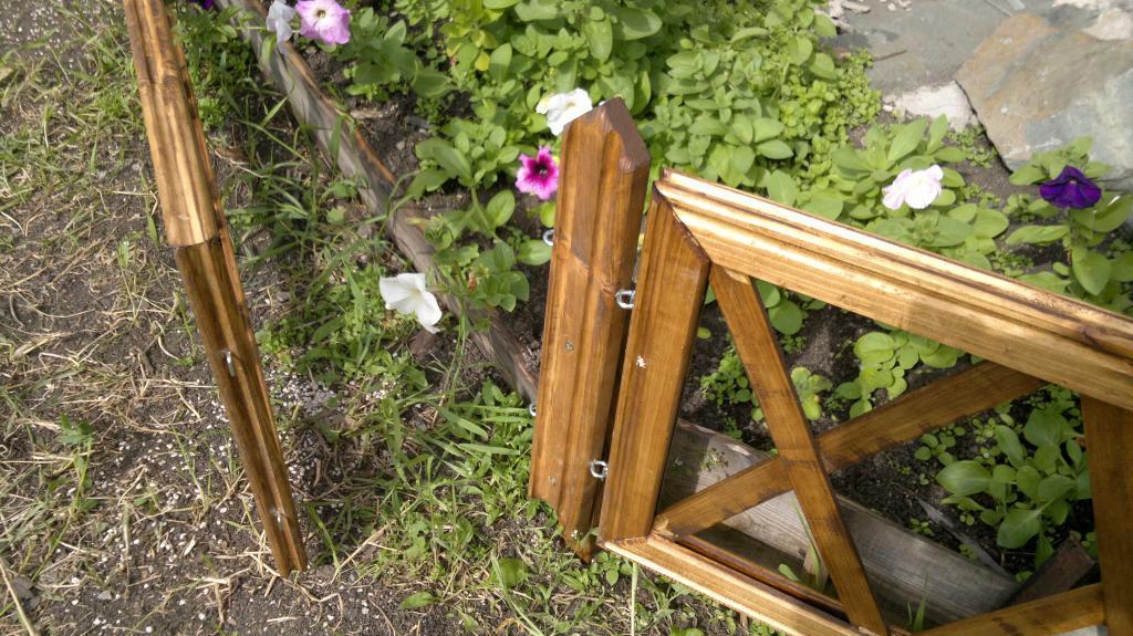 Забор для цветника Фото (6)