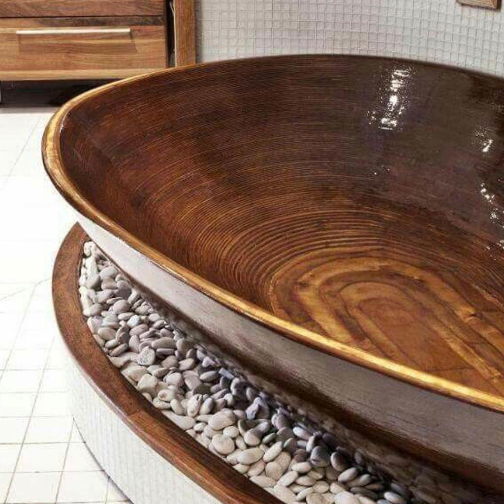 Деревянная ванна Фото 17