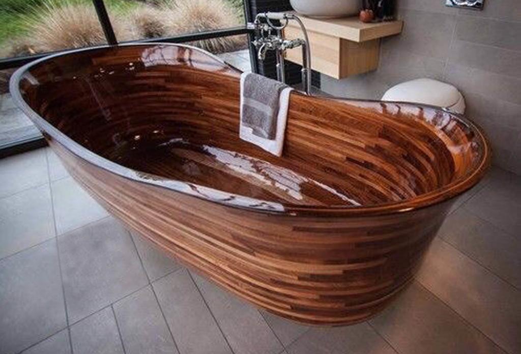 Деревянная ванна Фото 29