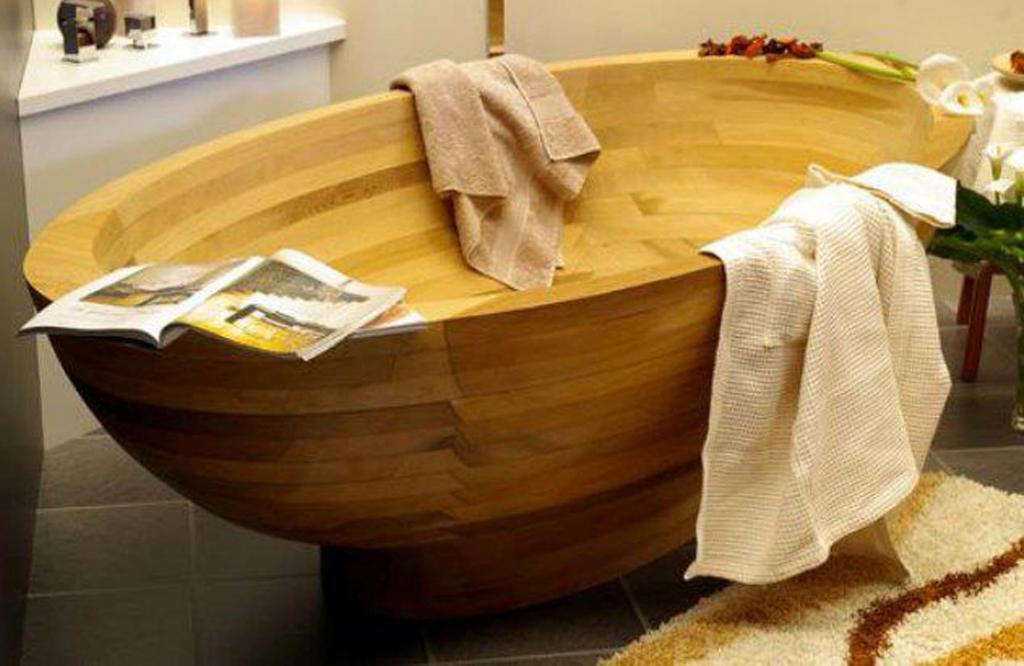 Деревянная ванна Фото 5
