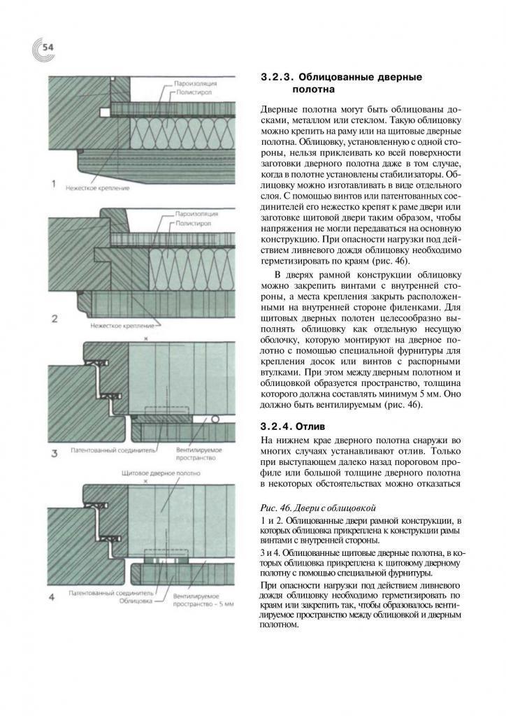 Справочник строителя. Деревянные двери. Пример страницы3