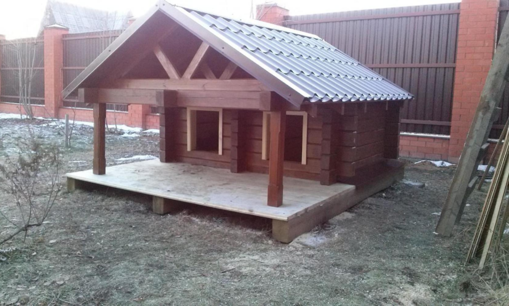 Двухместная будка для собак