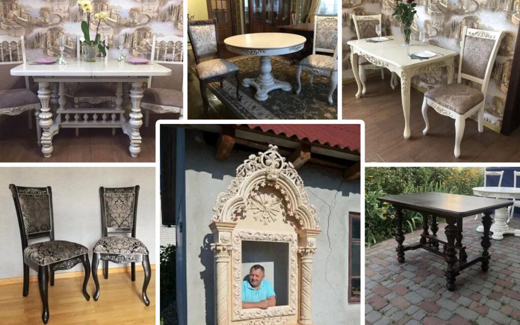 Столы и стулья из дуба