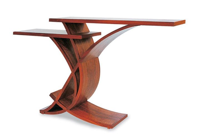Двухуровневый коридорный столик