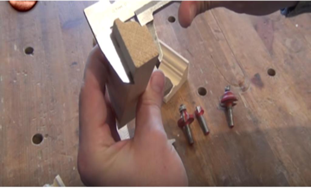 Измерение размеров узкой рейки