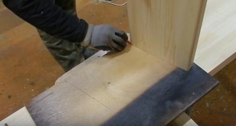 Обрисовка широкой части ступеньки