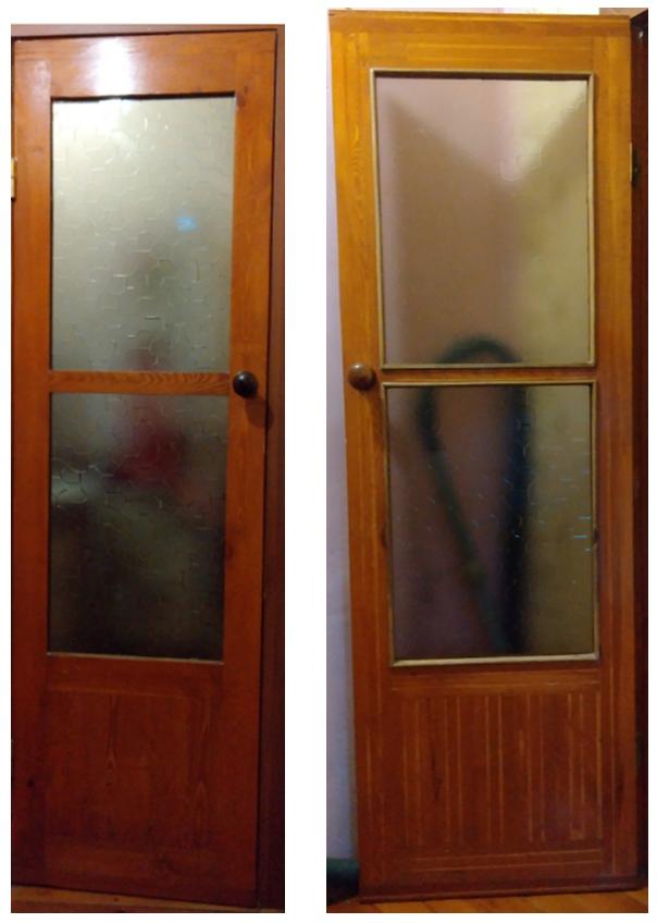 Снимок двери между душем и санузлом