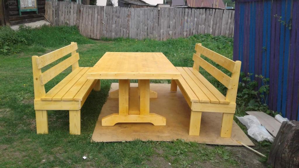 Стол с лавками (2)