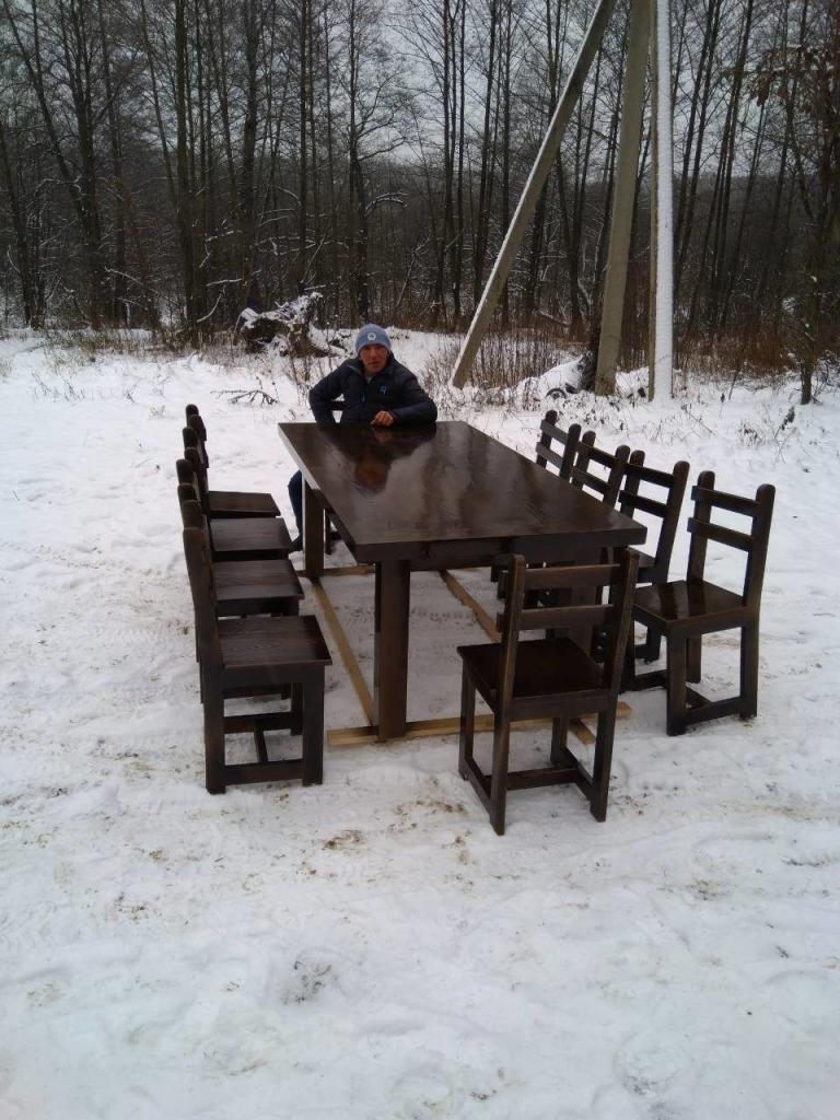 Столовый гарнитур из дерева (1)