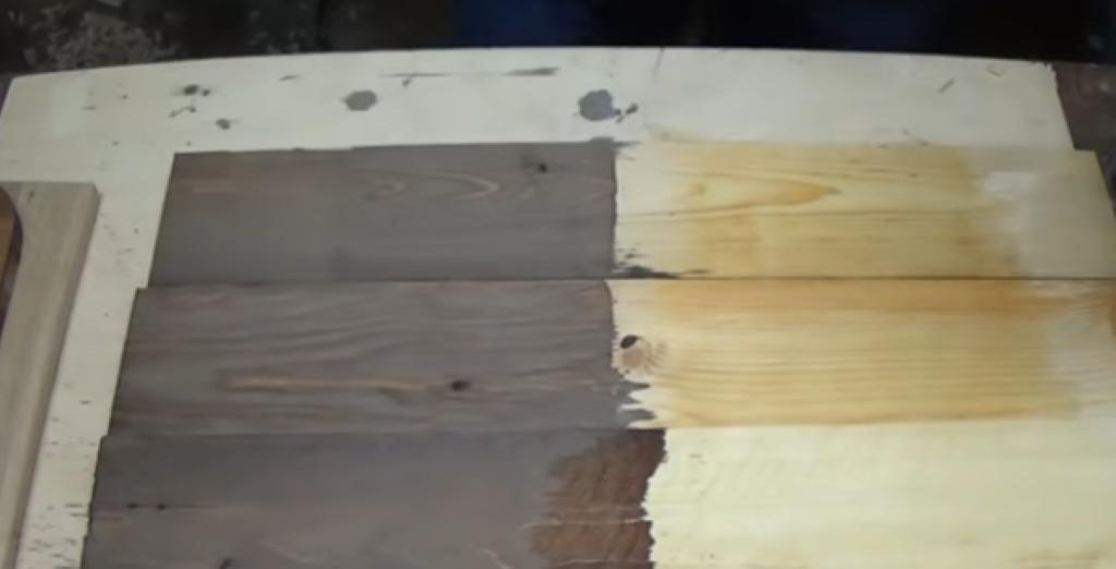 Обработанная уксусным раствором древесина
