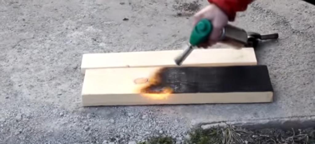 Обжиг ручной газовой горелкой
