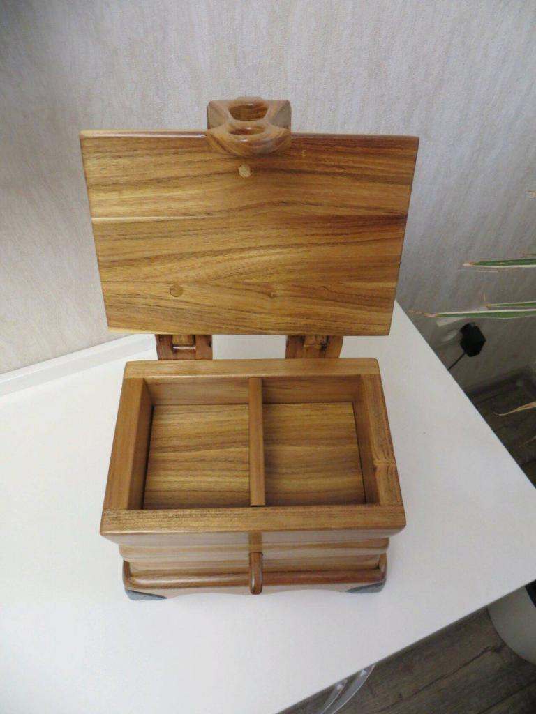Шкатулка с деревянными шарнирами (3)