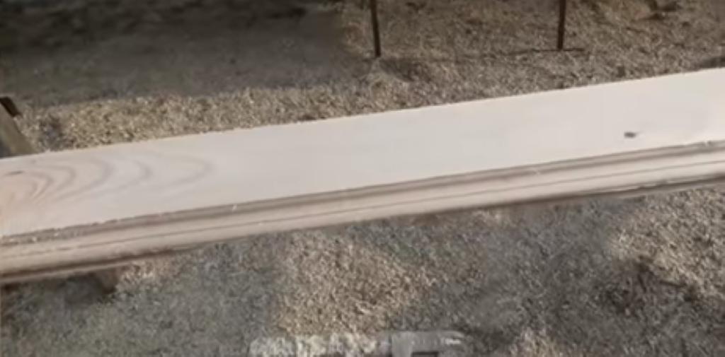 Лицевая сторона обработанной доски