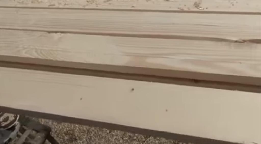 Вид досок перед фрезеровкой