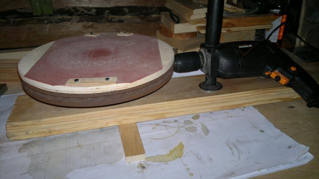 Шлифовальный круг из подручных материалов