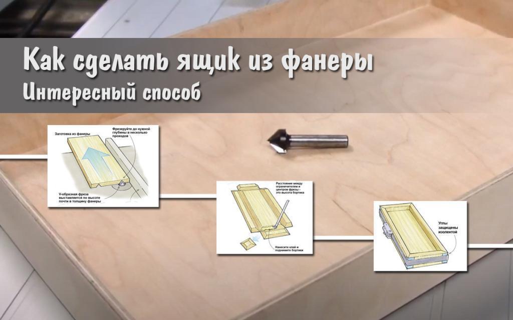 Как сделать ящик из фанеры