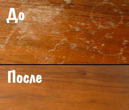 Как удалить мелкие царапины с мебели при помощи оливкового масла и уксуса